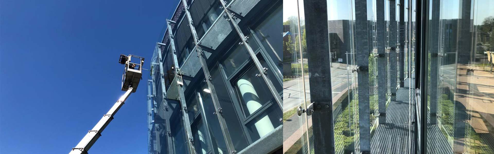 Reinigung Glasfassade Düsseldorf