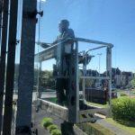 Fensterputzer Teleskopsteiger