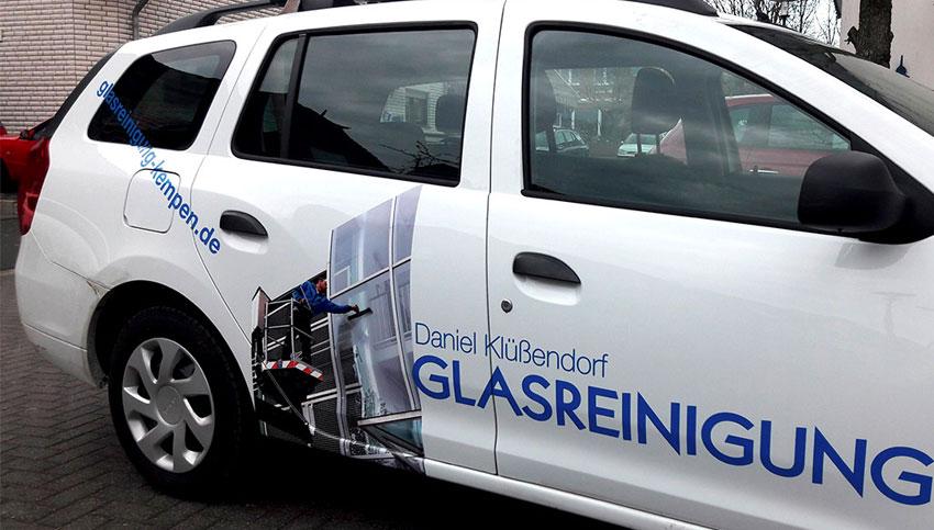 Abbildung Firmenfahrzeug Klüßendorf